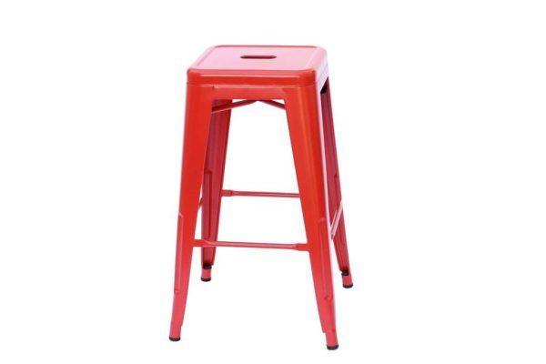 כסא בר מתכת אדום