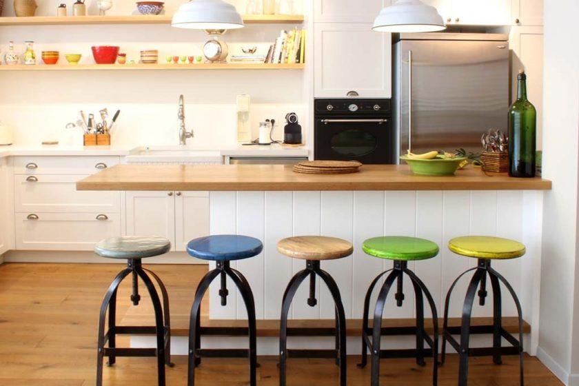 כסאות בר ברזל טבעי למטבח