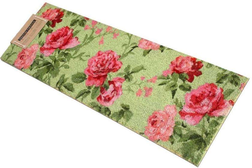 שטיח ארוך ירוק לכניסה