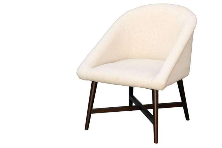 כורסא רטרו שמנת מבד פשתן