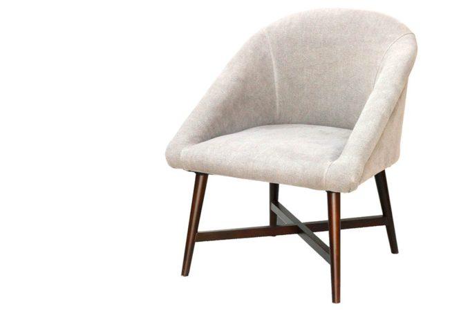כורסא רטרו אפורה מבד פשתן