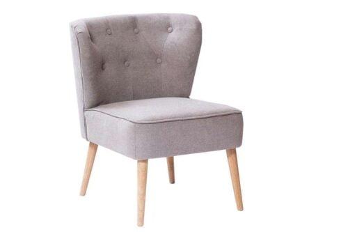 כורסא קטנה אפורה מבד