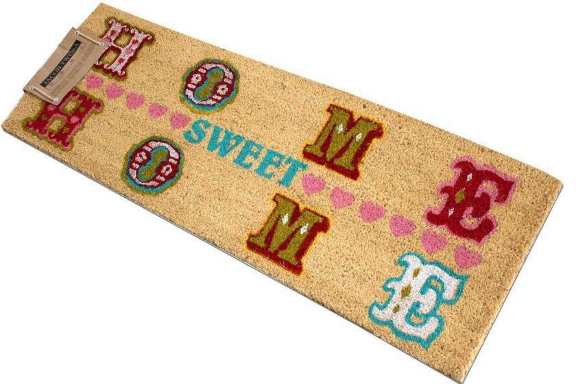 שטיח ארוך צבעוני לסף הדלת