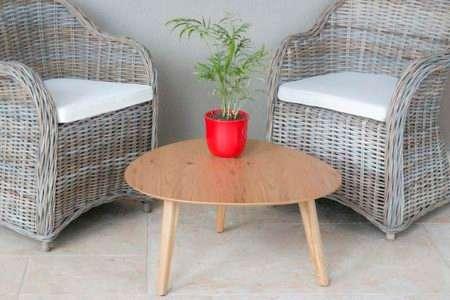 כורסא מעוצבת ראטן לגינה