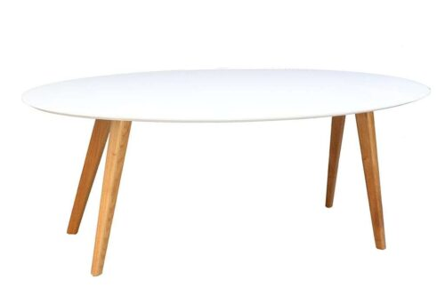שולחן אליפסה לבן