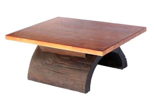שולחן סלון מגזע עץ