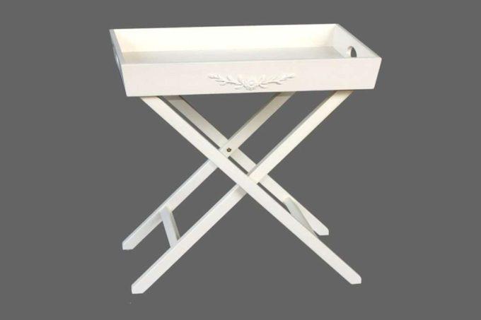 שולחן הגשה מתקפל שמנת