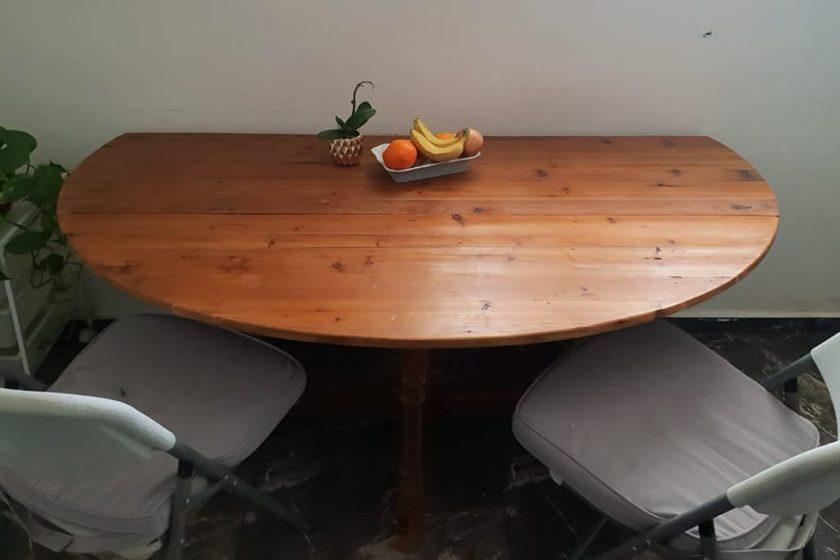 שולחן אוכל אליפטי