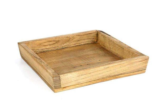 מגש מרובע מעץ מלא