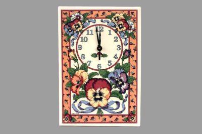 שעון קיר פרחים רומנטי בסגנון כפרי