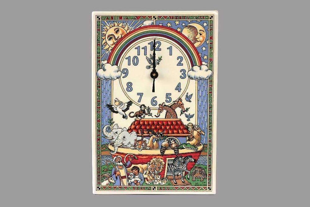 שעון קיר תיבת נח כפרי