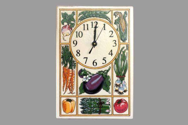 שעון מטבח ירקות ופירות