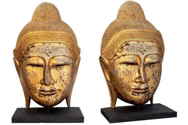 בודהה מעוצבת מעץ