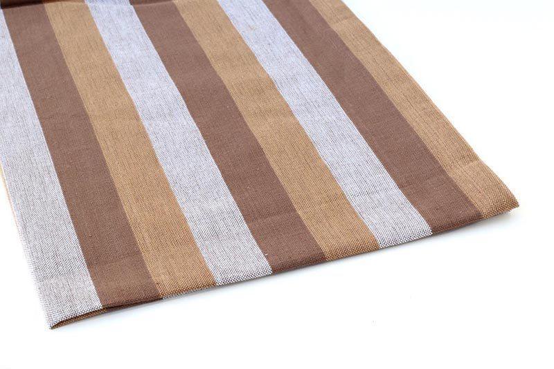 מגבת פסים חומים למטבח