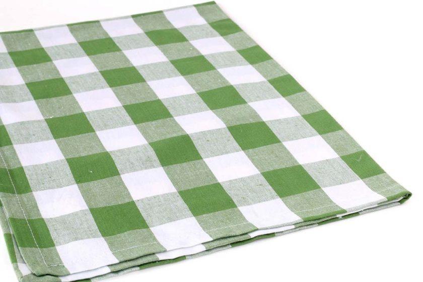 מגבות שיבוץ ירוק למטבח