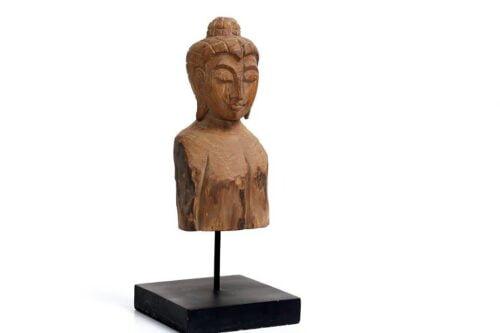 פסלון עץ אוריינטלי בודהה