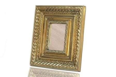מראה לשולחן צבע זהב קלאסי