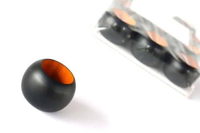 חבקים למפיות בצבע שחור