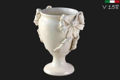 אגרטל מעוצב מקרמיקה בצבע לבן