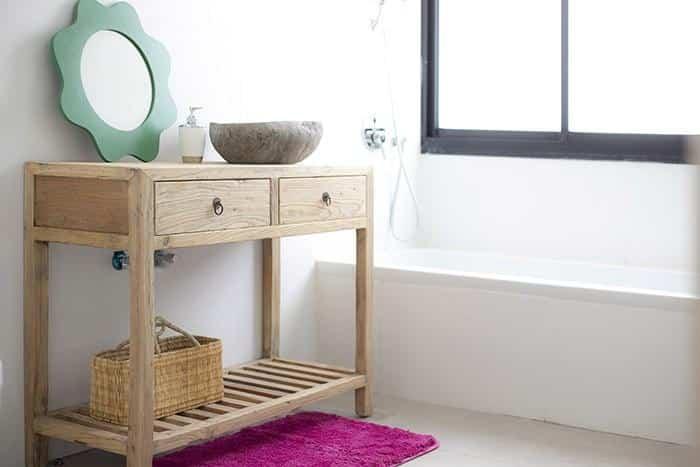 שידות כיור לאמבטיה מעץ