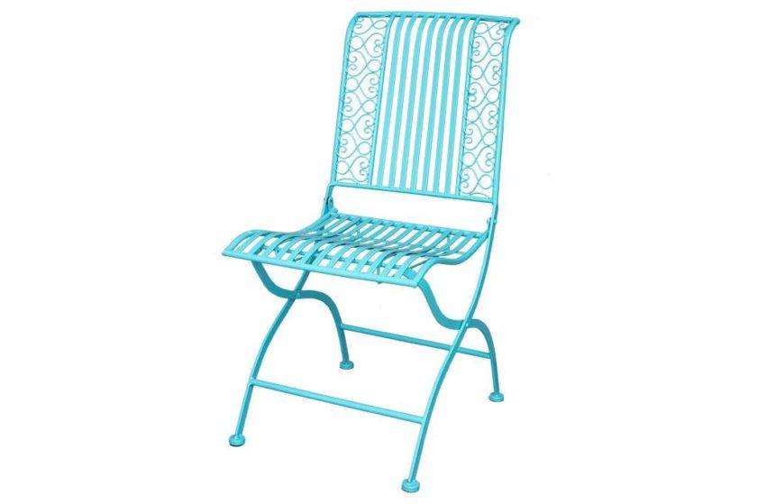 כסא גינה טורקיז ממתכת