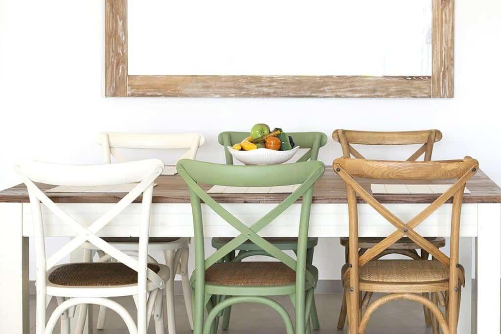כסאות אוכל צבע שמנת