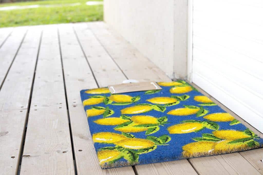 שטיח סף דלת לימונים