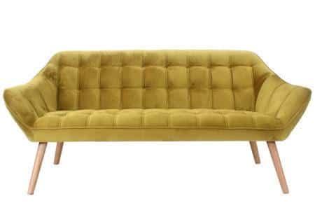 ספה תלת מושבית חרדל