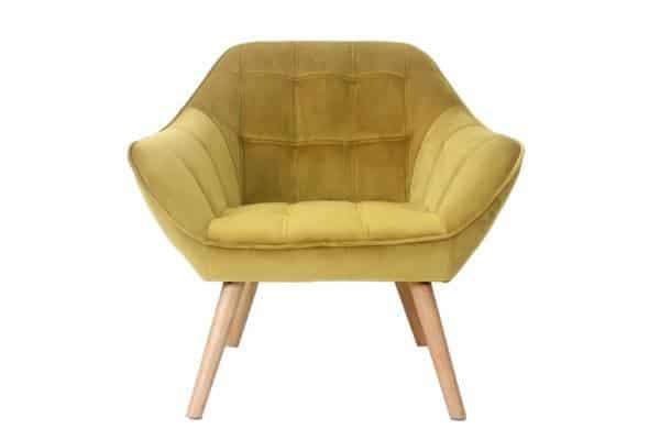 כורסא מעוצבת חרדל