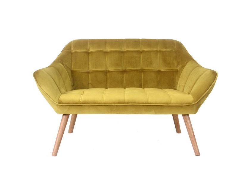 ספה דו מושבית חרדל
