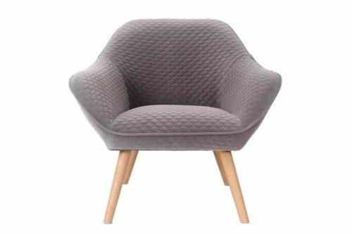 כורסא אפורה מעוצבת