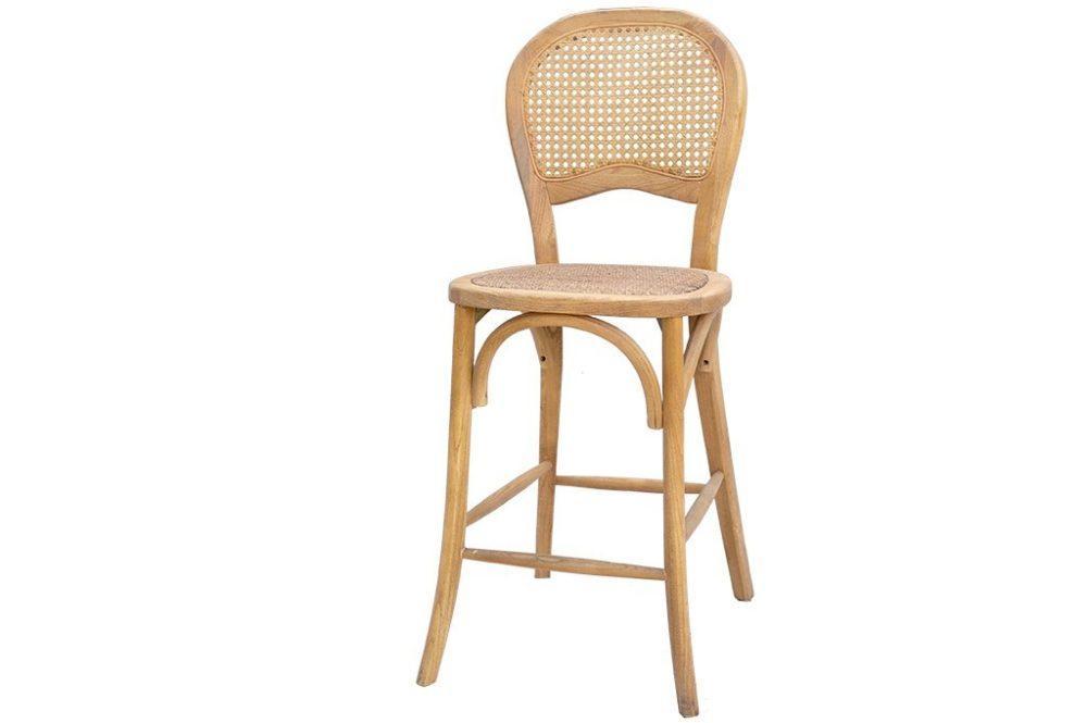 כסא משענת ראטן לבר