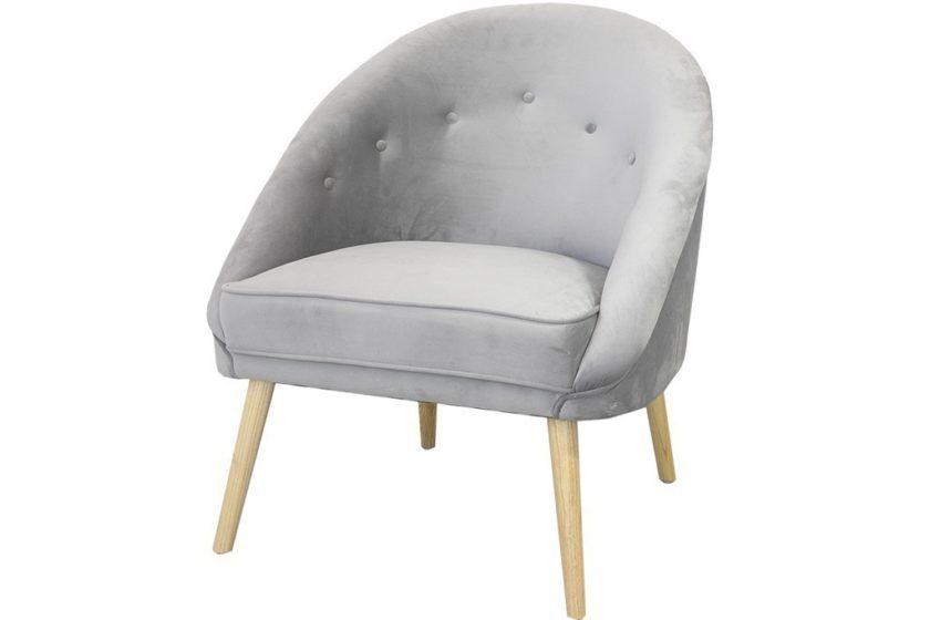 כורסא אפורה מעוגלת