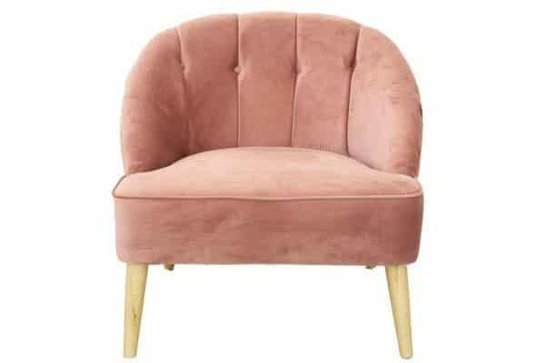 כורסא רחבה ורודה לסלון