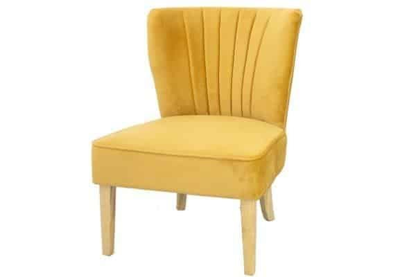 כורסא צהובה מעוצבת