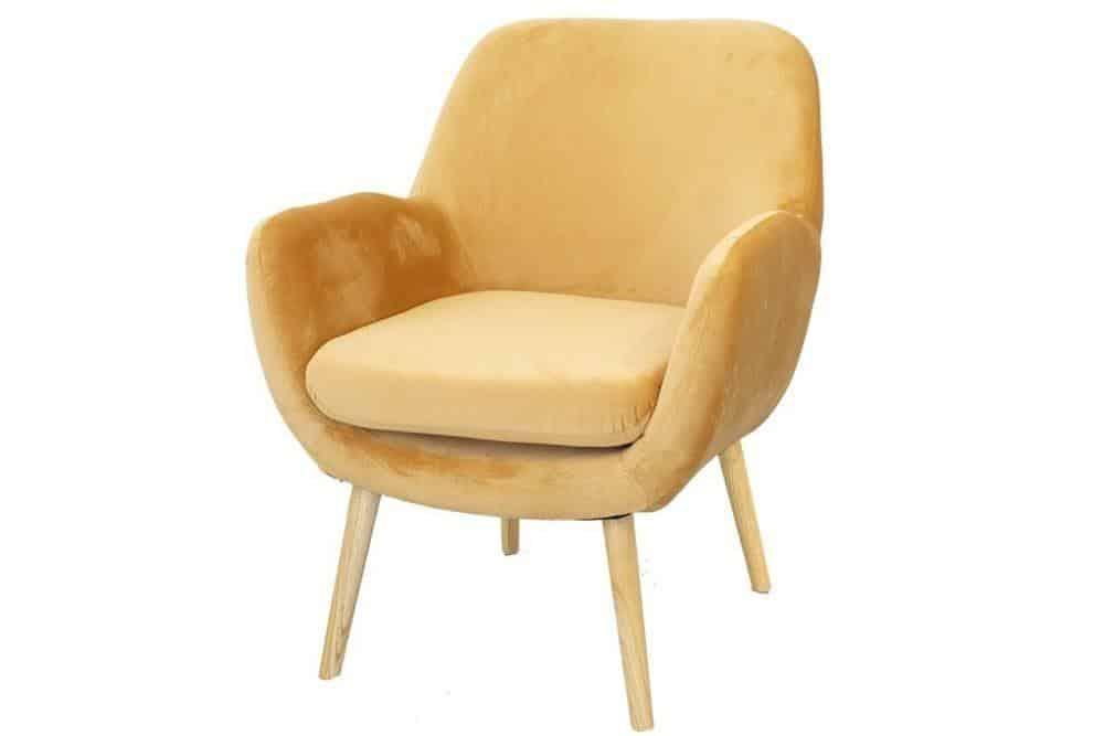 כורסאות בצבע צהוב חרדל