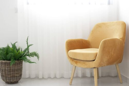 כורסא צהוב חרדל