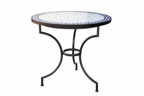 שולחן פסיפס עגול לגינה