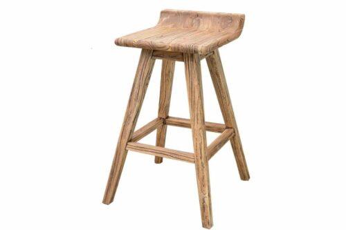 כסא עץ מעוצב לבר ודלפק