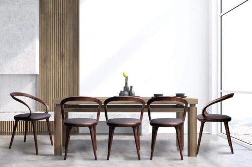 כסאות אוכל מעוצבים מעץ