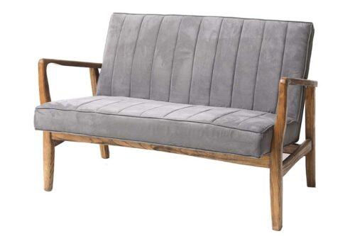 כורסא זוגית אפורה