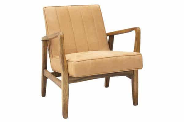 כורסא חרדלית מעוצבת