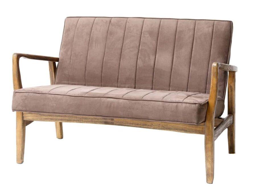כורסא זוגית חומה מעץ