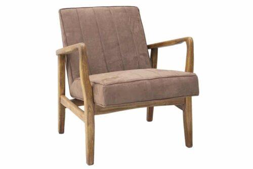 כורסא חומה מעוצבת