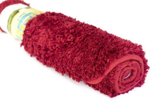 שטיח אמבטיה בצבע בורדו