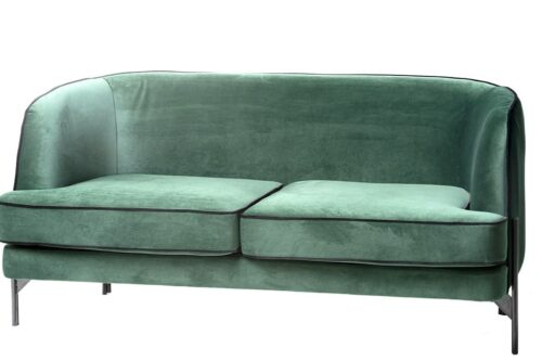 ספה מעוצבת בצבע ירוק