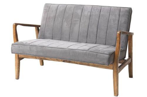 ספה זוגית אפורה