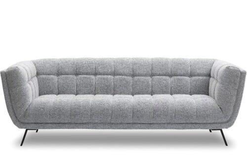 ספה תלת אפורה מעוצבת