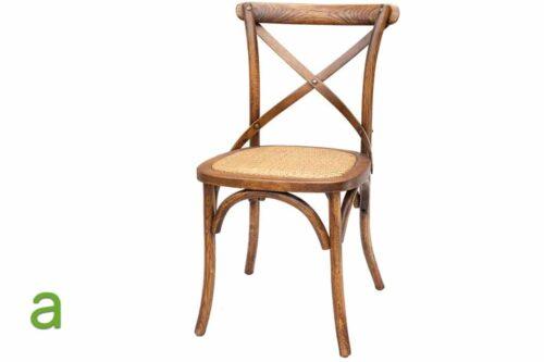 כסא עץ אגוז כהה