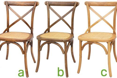 כסאות מעץ אלון בגווני אגוז